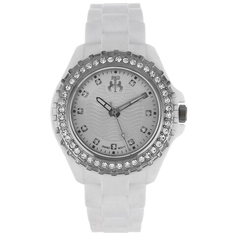 Jivago Women's Cherie Stainless Steel and White Silicon Watch