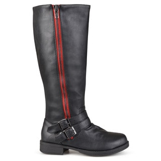 Journee Collection Women's 'Lady' Regular and Wide-calf Side-zipper Knee-high Riding Boot