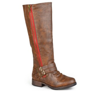 Journee Collection Women's 'Lady' Regular and Wide-calf Side-zipper Knee-high Riding Boot (More options available)