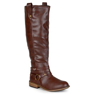 Journee Collection Women's 'Walla' Regular and Wide-calf Ankle-strap Knee-high Riding Boot (More options available)