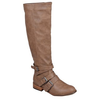 Journee Collection Womens 'Vienna' Knee-High Buckle-Strap Riding Boots