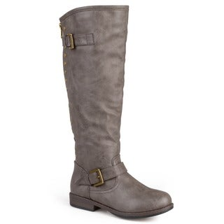 Journee Collection Women's 'Spokane' Red Zipper Riding Boot (More options available)