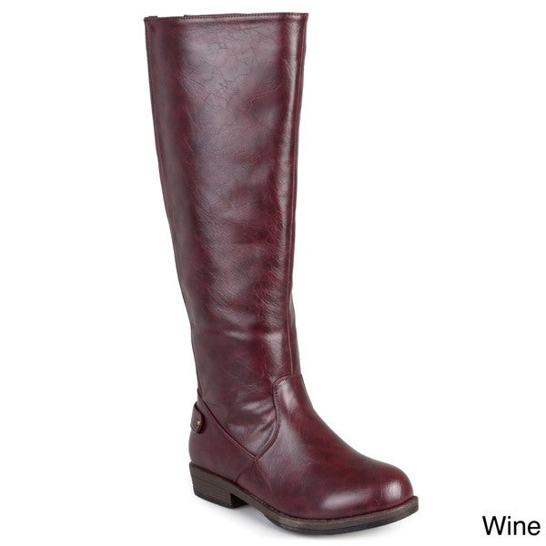 """WOMEN SIZE /""""7/"""",/""""7.5/"""" Ladies-BROWN-Premium Mid Calf Boots-Special TIME and TRU"""