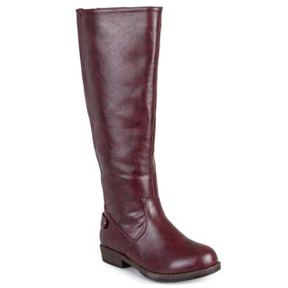 Journee Collection Women's 'Lynn' Stretch Regular and Wide Calf Riding Boot