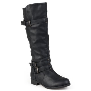 Journee Collection Women's 'Bite' Regular and Wide-calf Buckle Knee-high Riding Boot (More options available)