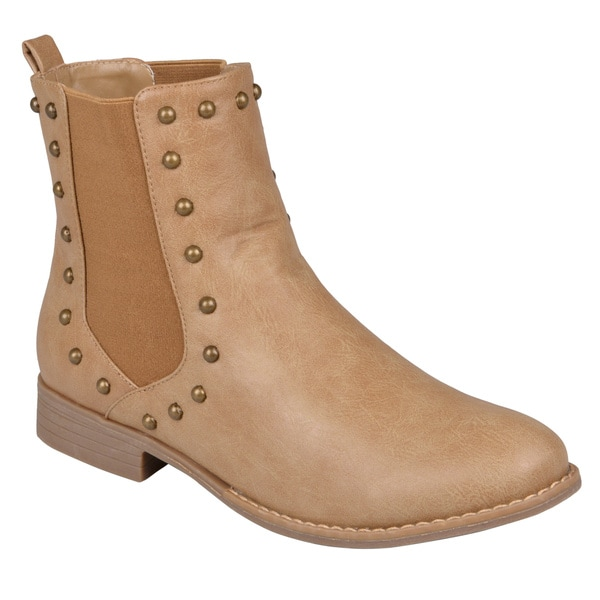 Hailey Jeans Co Women's 'Bend' Studded Round Toe Ankle Booties Free Shipping On Orders Over 45 Overstock com 15653339