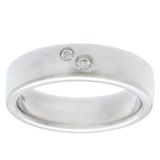 Diamonds For A Cure Platinum 1/10ct TDW Wedding Band (H-I, SI1-SI2)