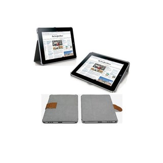 Macally BOOKSTAND Tablet PC Case - Suede - Grey