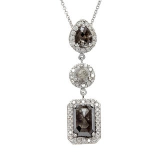 Diamonds For A Cure 18k White Gold 4 1/5ct TDW Fancy Rough Necklace