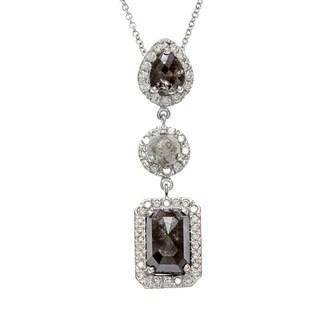 Neda Behnam 18k White Gold 4 1/5ct TDW Fancy Rough Necklace