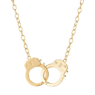 Yellow Goldplated Sterling Silver Handcuffs Necklace