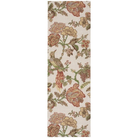 "Waverly Global Awakening Casablanca Rose Pear Area Rug by Nourison (2'6 x 8') - 2'6"" x 8' Runner"