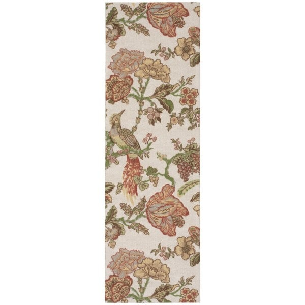 Waverly Global Awakening Casablanca Rose Pear Area Rug by Nourison - 2'6 x 8'