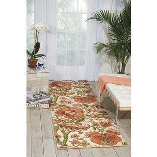 Waverly Global Awakening Imperial Dress Pear Area Rug by Nourison (2'6 x 8')