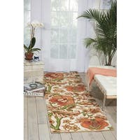 """Waverly Global Awakening Imperial Dress Pear Area Rug by Nourison (2'6 x 8') - 2'6""""x8'"""