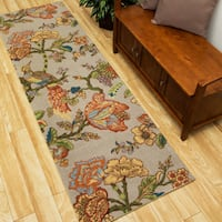 Waverly Global Awakening Casablanca Rose Smoke Area Rug by Nourison - 2'6 x 8'