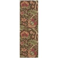 Waverly Global Awakening Imperial Dress Chocolate Area Rug by Nourison (2'6 x 8') - 2'6 x 8'