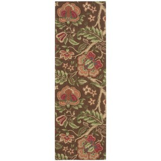 Waverly Global Awakening Imperial Dress Chocolate Area Rug by Nourison (2'6 x 8')