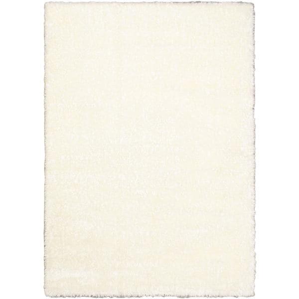 """Labrador White Abstract Shag Area Rug - 5'5"""" x 7'9"""""""