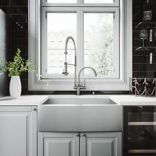 VIGO Camden Stainless Steel Kitchen Sink Set with Dresden Faucet
