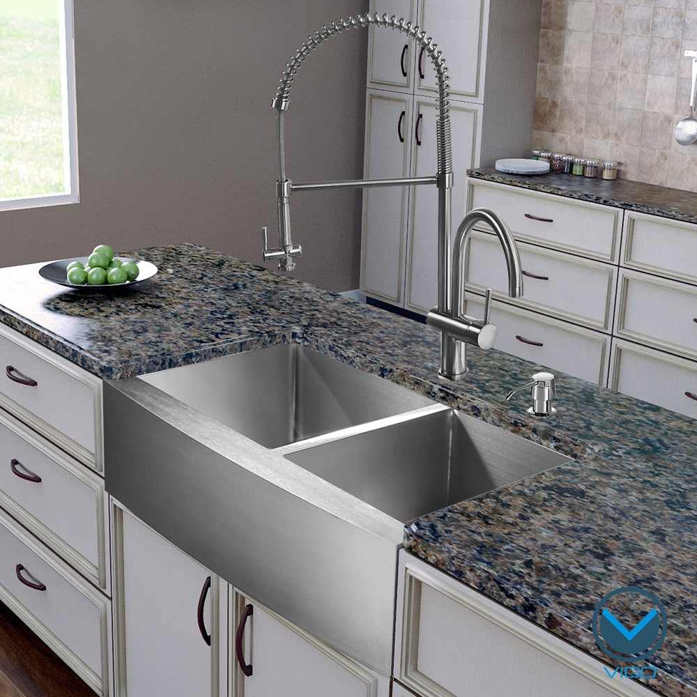 "Vigo All-In-One 36"" Bingham Stainless Steel (Silver) Doub..."