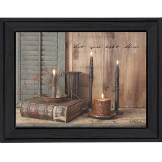 """""""Let Your Light Shine"""" By Billy Jacobs, Printed Wall Art, Ready To Hang Framed Poster, Black Frame"""