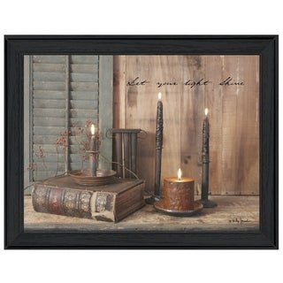 """Let Your Light Shine"" By Billy Jacobs, Printed Wall Art, Ready To Hang Framed Poster, Black Frame"