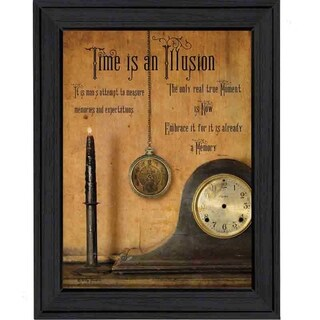 """Time is the Illusion"" By Billy Jacobs, Printed Wall Art, Ready To Hang Framed Poster, Black Frame"