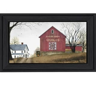"""The Quilt Barn"" By Billy Jacobs, Printed Wall Art, Ready To Hang Framed Poster, Black Frame"
