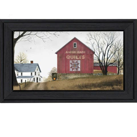 """""""The Quilt Barn"""" By Billy Jacobs, Printed Wall Art, Ready To Hang Framed Poster, Black Frame"""