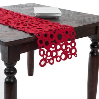 Red Felt Table Runner
