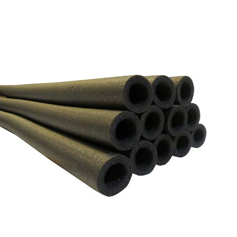 "Upper Bounce 37 Inch Trampoline Pole Foam sleeves, fits for 1"" Diameter Pole - Set of 12 -Black"