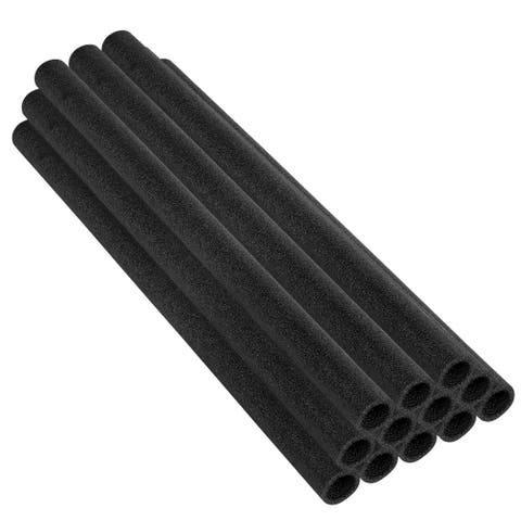 "44 Inch Trampoline Pole Foam sleeves, fits for 1.5"" Diameter Pole - Set of 12 -Black"