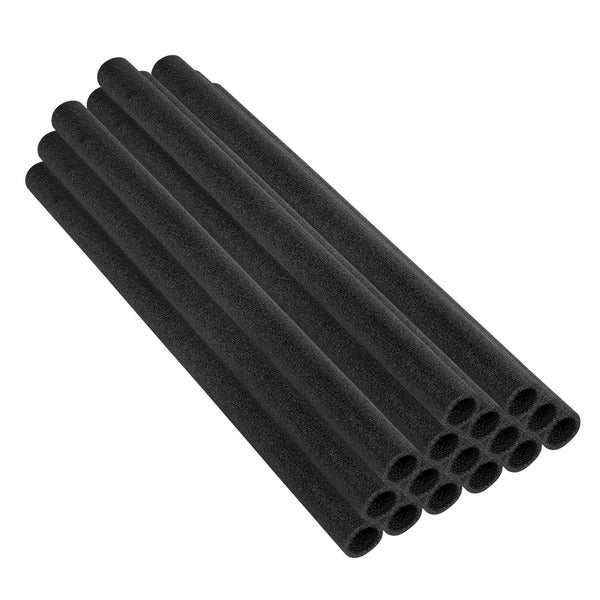 44-inch Black Trampoline Pole Foam Sleeves (Set of 16)