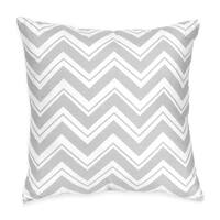 Sweet Jojo Designs Pink and Gray Chevron Zig Zag Decorative Accent Throw Pillow