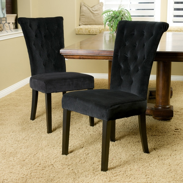 Black Dining Room Chair: Shop Venetian Velvet Dining Chair (Set Of 2) By