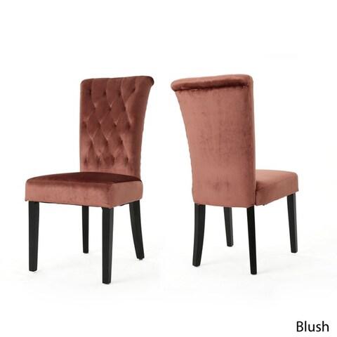 Venetian Velvet Dining Chair (Set of 2) by Christopher Knight Home