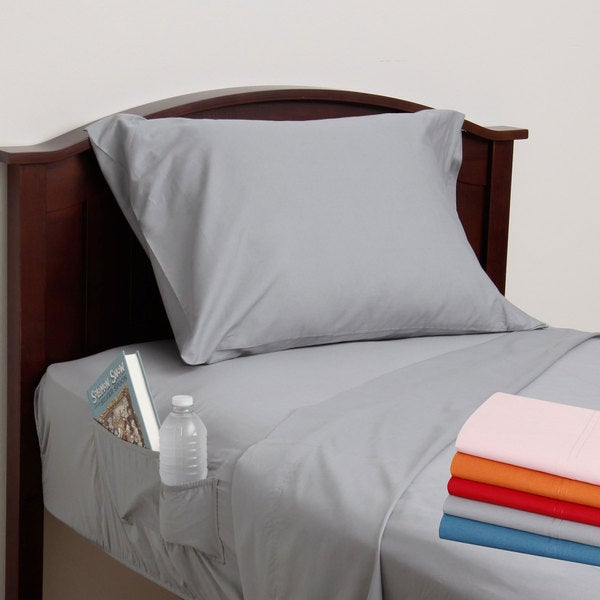 Cotton Percale Side Pocket Sheet Set Free Shipping On