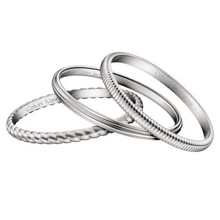Calvin Klein Jeans Jewelry Waves Stainless Steel Bracelet