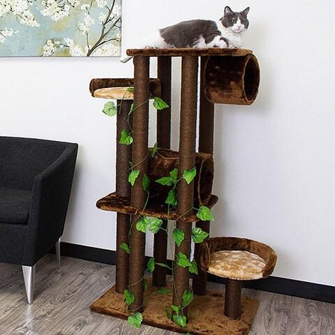 Kitty Mansions Oak Cat Tree Furniture