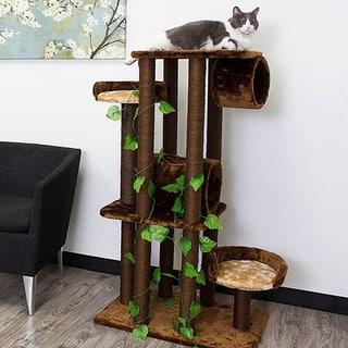 Kitty Mansions Oak Cat Tree Furniture https://ak1.ostkcdn.com/images/products/8343728/P15653877.jpg?impolicy=medium