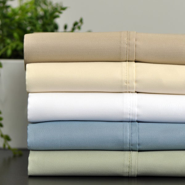 600 Thread Count Quality Cotton Rich Sheet Set with Bonus Pillowcases (6-piece Set)