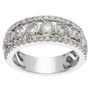 Sofia 14k White Gold 1ct TDW IGL Certified Bezel Set Diamond Anniversary Band