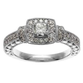 Sofia 14k White Gold IGL Certified 3/4ct TDW IGL Certified Diamond Engagement Ring|https://ak1.ostkcdn.com/images/products/8343837/P15654039.jpg?impolicy=medium