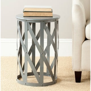 Safavieh Bertram Grey Lattice Iron Stool