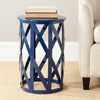 Safavieh Bertram Navy Iron Stool