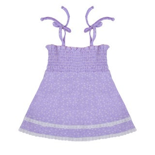 Funkoos Purple Star Organic Cotton Dress