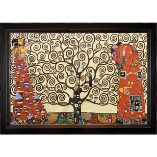 Gustav Klimt 'The Tree of Life, Stoclet Frieze' Hand Painted Framed Canvas Art