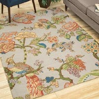 Waverly Global Awakening Casablanca Rose Smoke Area Rug by Nourison (4' x 6') - 4' x 6'