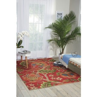 Waverly Global Awakening Imperial Dress Garnet Area Rug by Nourison (4' x 6')